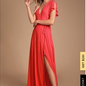 NWT - lulus wrap maxi dress